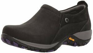 Women-039-s-Dansko-Portland-Slip-On-Sneakers-Patti-Black-Nubuck-Leather