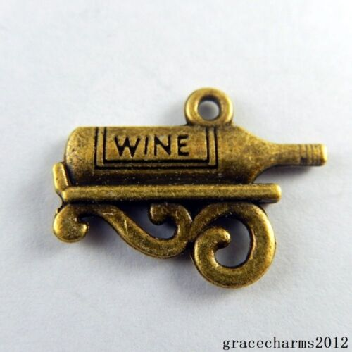 38x Vintage Bronze Alliage bouteille vin Charms Pendentifs conclusions Crafts 50897