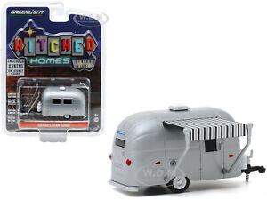 1961 Airstream Bambi Travel Trailer Silver W Awning 1 64 By Greenlight 34080 E Ebay