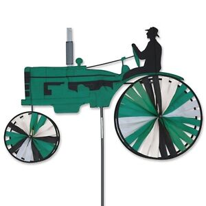 Green-Old-Style-Farm-Tractor-StakedWind-Spinner-With-Pole-amp-Mount-29-PR-25952