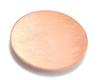 26g Round Metal Stamping Blanks 1//2 Circle 20-Pack Solid Copper Discs