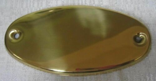 Brass Doorplate Hand polished brass hardware included 83-097