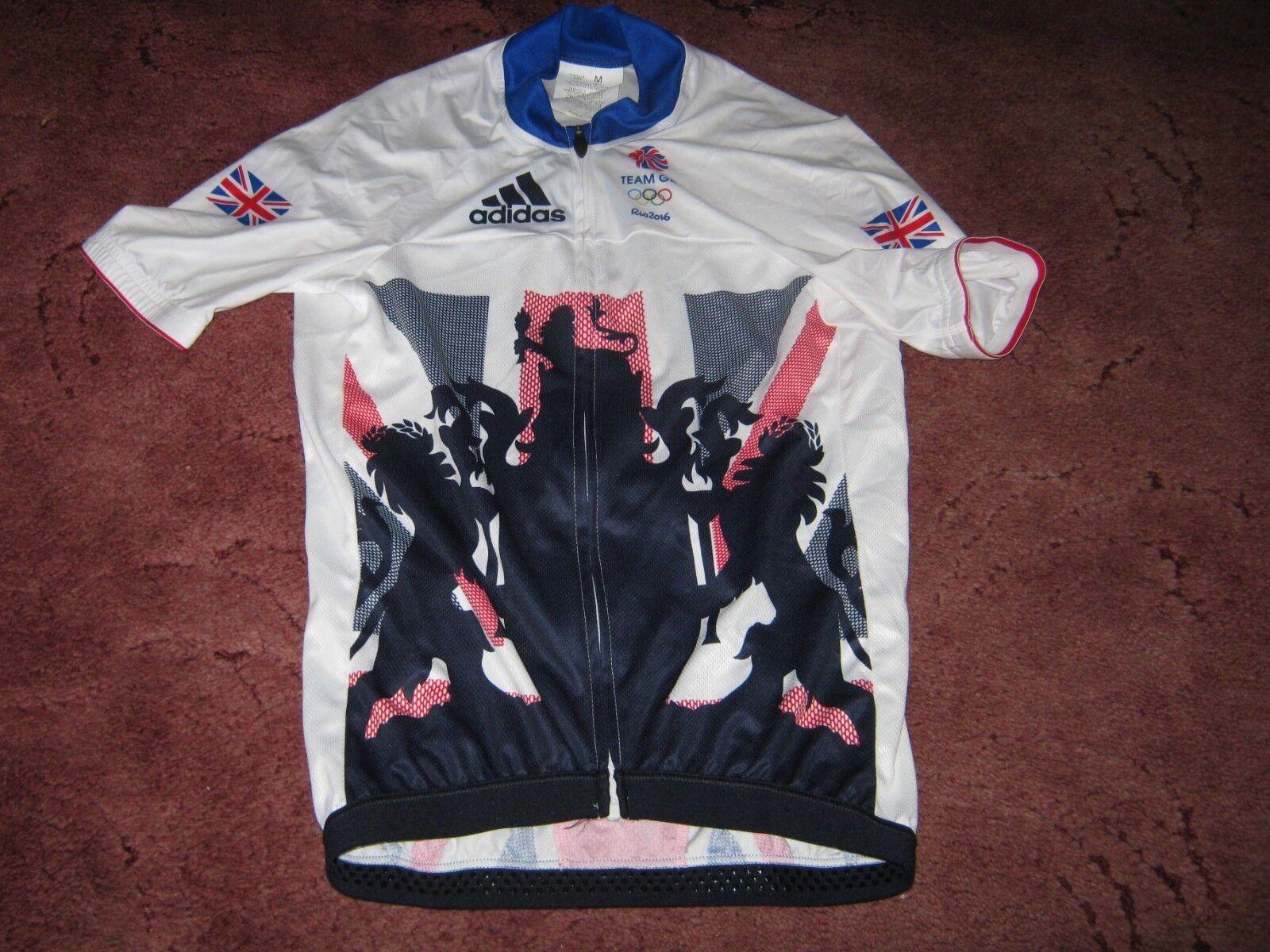Team GB  Rider ISSUE  Rio Olympics 2016 Adidas AERO Ciclismo Jersey [M]