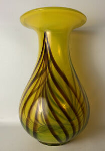 Vintage-Mid-Century-Modern-Funky-Contemporary-Hand-blown-Glass-Vase-Murano-Era