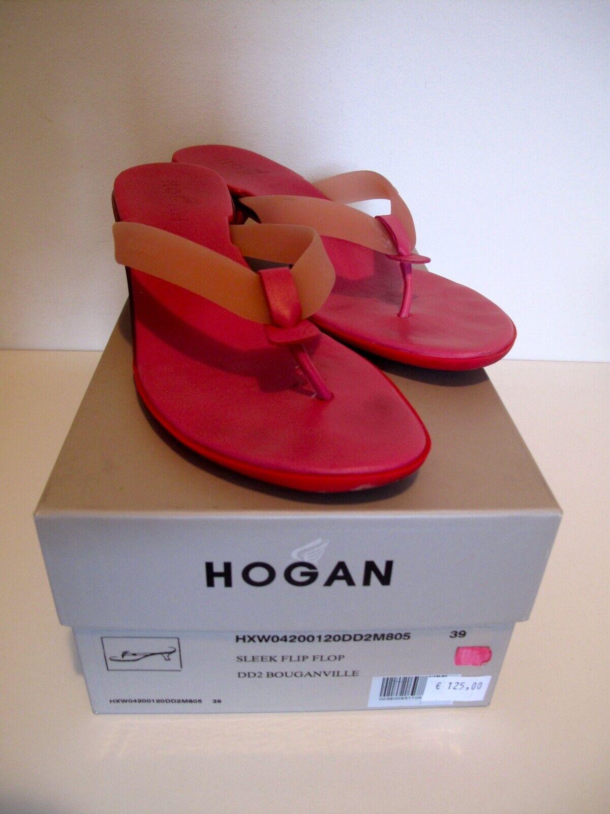 Hogan Damenschuh Sandale slipflop Gr. 39