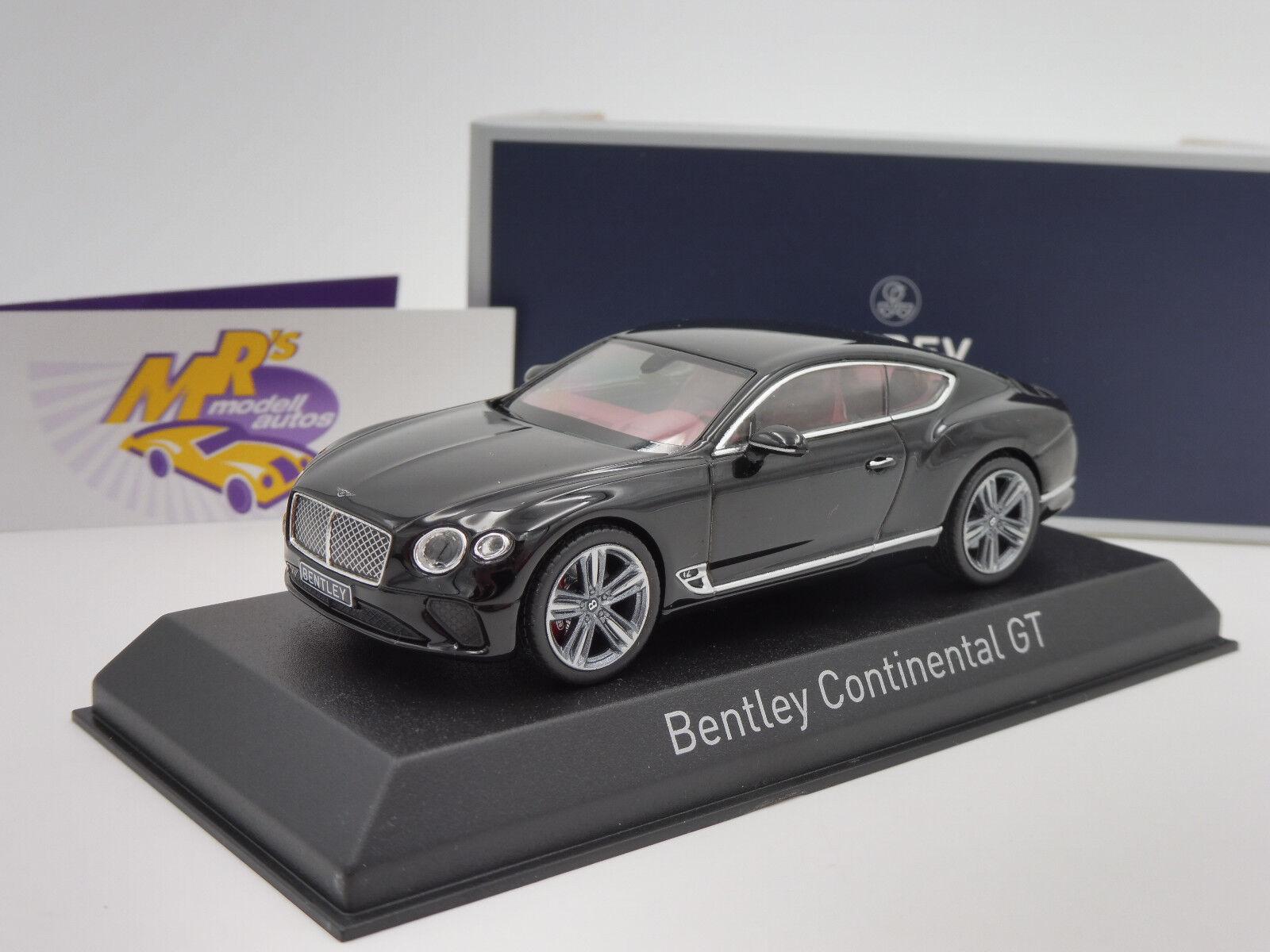 NOREV 270320   BENTLEY BENTLEY BENTLEY Continental GT Année 2018  Noir Metallic  1 43 NEUF e9e71e