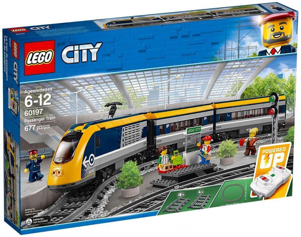 Tren de hormigón armado de pasajeros TGV lego ciudad  60.197 - 677 nuevos precintos
