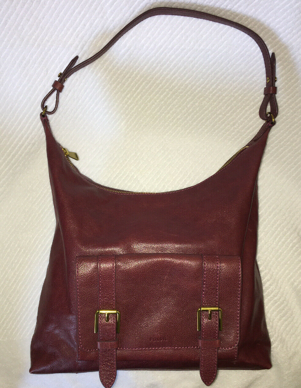 Leather Hobo Slouch Handbag
