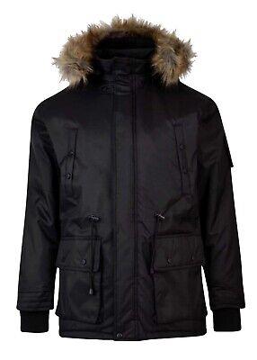 Hip Hop Padded Hooded D-Rock Men/'s Designer Parka Jacket Is Time Money NM