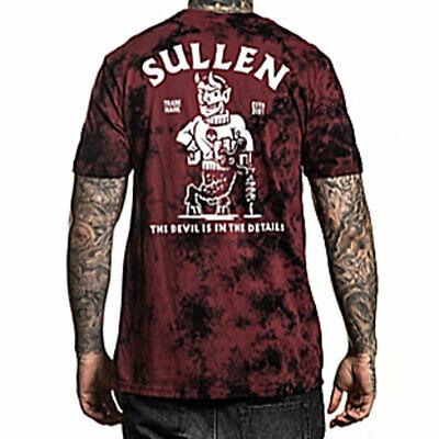Sullen Men's Details Short Sleeve T Shirt Black Rosewood Crystal Wash Clothing