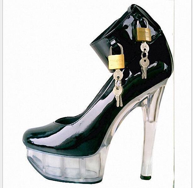 nelle promozioni dello stadio Queen Sexy Donna    Lock Buckle Stiletto High Heels Wedding Party scarpe Sbox1  omaggi allo stadio