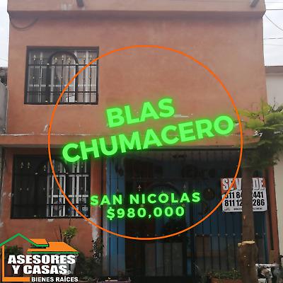 CASA EN VENTA EN COL BLAS CHUMACERO SAN NICOLAS ZONA PASEO LA FE