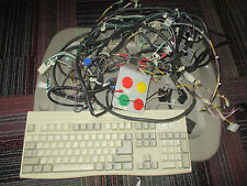 LAZER-TRON SUPER SOLAR SPIN REDEMPTION GAME COMPLETE WIRE HARNESS & KEYBOARD,GUC