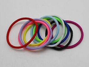 100-Mixed-Color-Strong-Elastic-Scrunchie-Hair-Band-Rope-Ponytail-Holder-Hair-Tie
