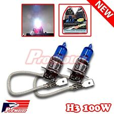 2pc H3 Headlight Halogen Bulb 12V 100W Replacement Gas Xenon 5000K Fog Driving