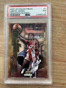 2003-04 Upper Deck Freshman Season LeBron James Rookie #1 Cavaliers PSA 7 POP 3!