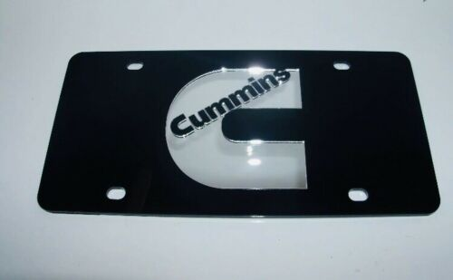 Black//Silver Brand NEW Cummins  License Plate Tag Colors