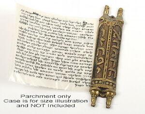 Good Quality Mezuzah Jewish Kosher Parchment Klaf Mezuza