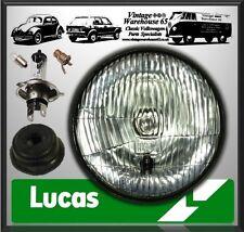 "Triumph BSA Norton Velocette Lucas 7"" Halogen Conversion Headlight + Sidelight"