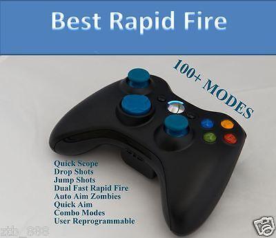 XBOX 360 RAPID FIRE MODDED CONTROLLER COD ADVANCED WARFARE MW3 BLUE LED FAST