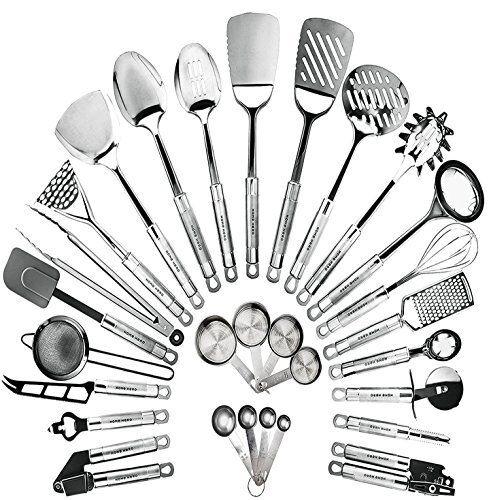 Acier Inoxydable Ustensiles de Cuisine Set de 29 Ustensiles de cuisson Antiadhésif Cookware