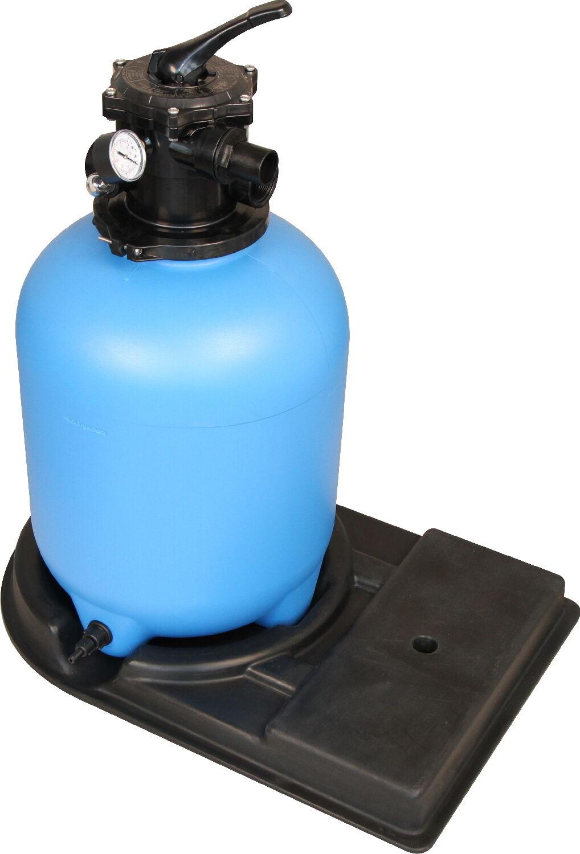 Filterkessel Sandfilterkessel Top 500 6 mit 6-Wege-Top-Ventil Ø500mm 75kg Filter
