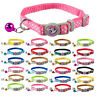 Cute Nylon Cat Kitty Puppy Dog Collars With Bell Quick Release with Bell