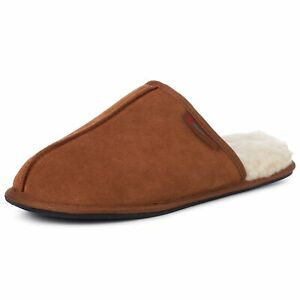 Alpine-Swiss-Mens-Suede-Memory-Foam-Scuff-Slippers-Comfort-Slip-On-House-Shoes
