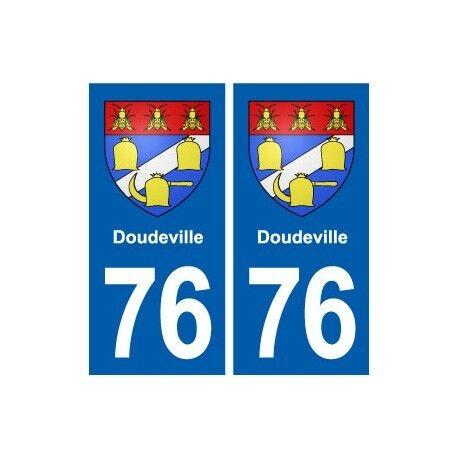 76 Doudeville blason autocollant plaque stickers ville droits