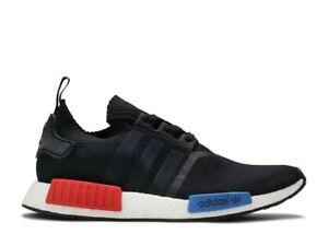 Adidas NMD R1 PK Primeknit OG Men's Black Red Blue Size 9 RARE   eBay