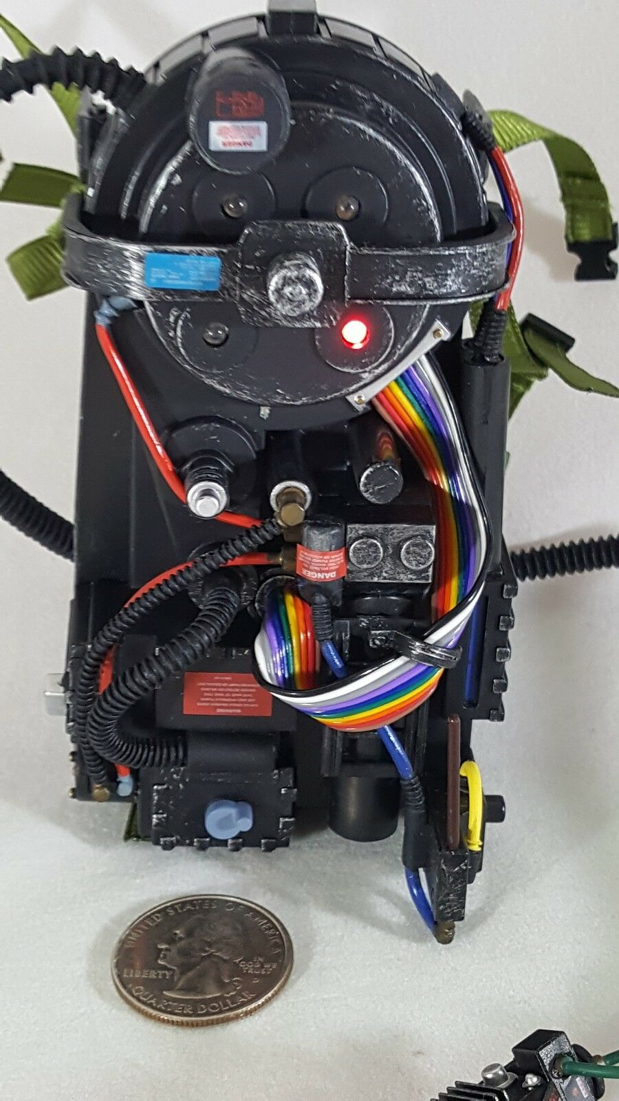 Ghostbusters 1 6 scale Matty Collector 12  action figure's LED proton pack only