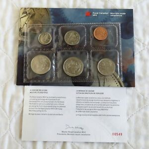CANADA 1999 5 COIN PLATED TEST COIN SET - sealed pack