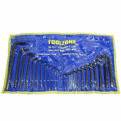 25pc Metric and AF Allen Alan Allan Hexagon Hex Key Set TE054