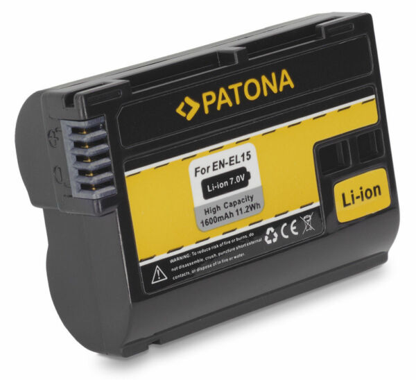 Batterie En-el15 Pour Nikon D7100 D710 D750 D7000 D800 D800e D810 D600 D610