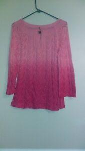 rosa maglia Maglione Maglione lavorato a lavorato XwgSxYq