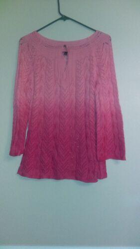 rosa Maglione Maglione lavorato lavorato maglia a q80wvC