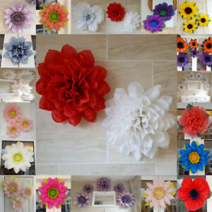 Christmas red white pom pom paper flower wall tissue decorations image is loading christmas red white pom pom paper flower wall mightylinksfo