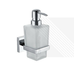 Ecospa Modern Bathroom Frosted Glass Chrome Soap Dispenser With Pump Action Ebay