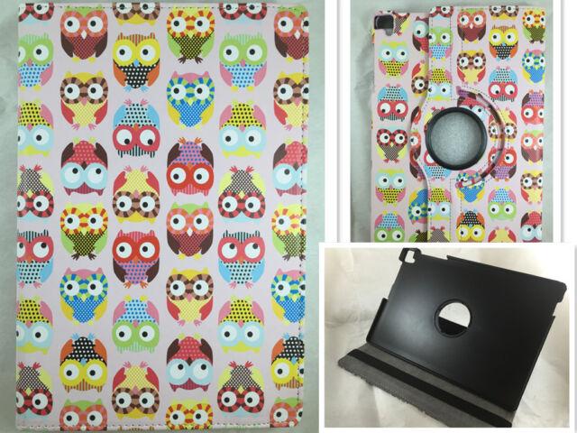 """COVER CASE TABLET BQ AQUARIS E10 10.1 10,1"""" SWIVEL 360º DRAWING OWLS"""