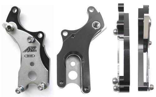 New A2Z DM-UNI Disc brake adapter allows bike frames w//o tabs to run brakes