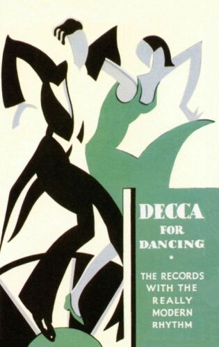 1920/'S DANCING FLAPPERS ADVERTISEMENT FOR DECCA RECORDS  A3 POSTER REPRINT