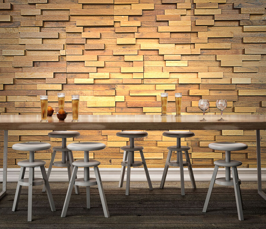 3D Wood Slats 1088 WallPaper Murals Wall Print Decal Wall Deco AJ WALLPAPER