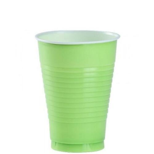 96 Disposable Plastic Colored Party Glasses Cups 12 oz Colorful FREE SHIPPING!