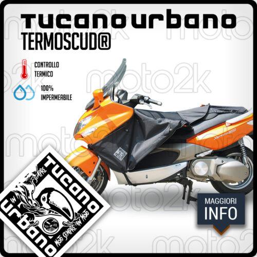 TERMOSCUD COPRIGAMBE TUCANO NERO R046N PER KYMCO XCITING 250 FINO AL 2012