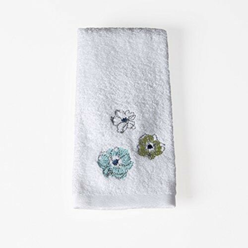 Roberto Floral Bath Hand Fingertip Towel Saturday Knight Blues Greens