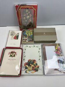 Stationery Card LOT of 7 Partial Packs Crane Closerie Odd Balls Caspari