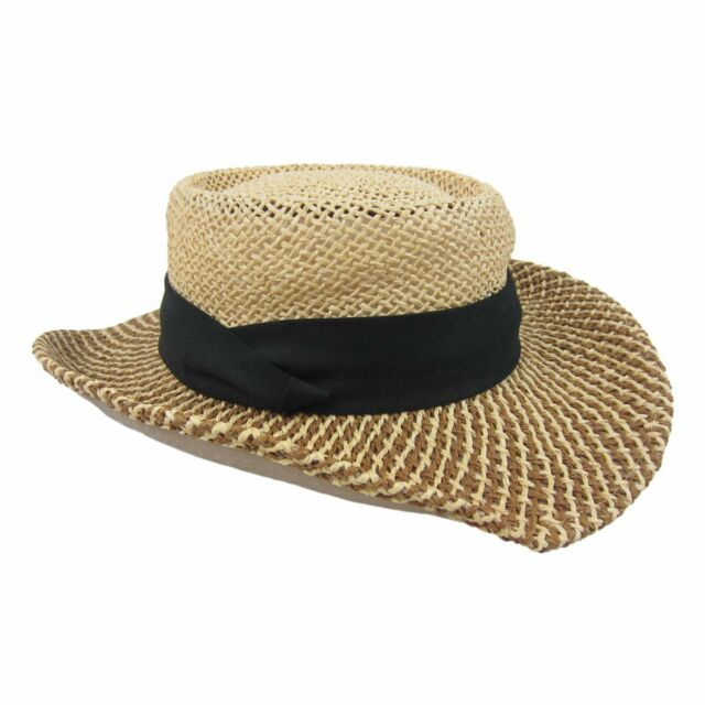 Buy Walter Hagen Golf Panama Hat Woven Natural W Black Band Fast ... b5087472ef9