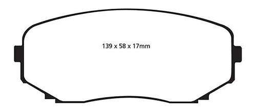 EBC Yellowstuff Pastillas De Freno Delantera Para Mazda CX-7 2.3 Turbo 2007-2010 DP41794R