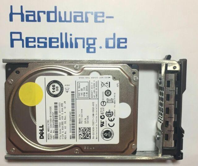 "146gb de Dell sas 10k 6gb/s 16mb ca07068-b10400de 0x143k 2,5"" PowerEdge HDD"