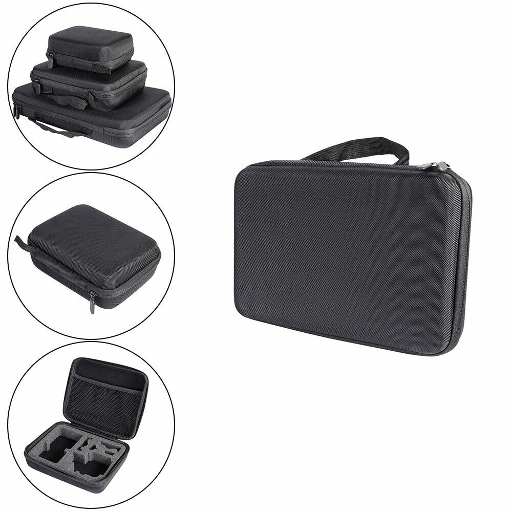 S/M/L Portable Hard Shell Case Box With Foam Inside For GoPro Hero Black New